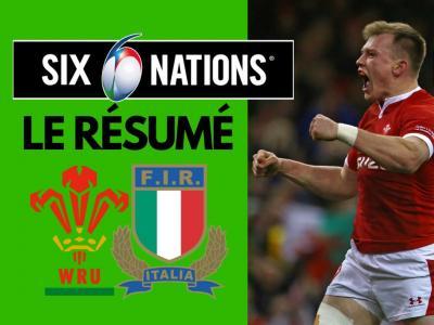 Pays de Galles - Italie : le résumé et les essais du match en vidéo