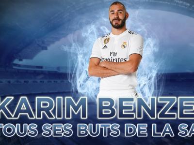 Liga 2018 / 2019 : les 21 buts de Karim Benzema avec le Real Madrid en vidéo