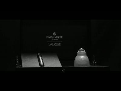Lalique x Caran d'Ache : mots de cristal
