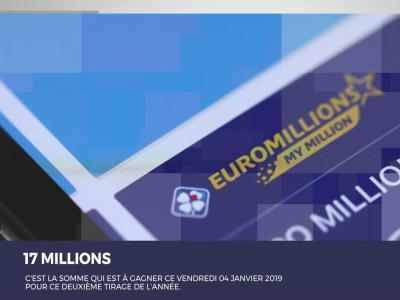 Euromillions : les résultats du tirage du 04 janvier 2019