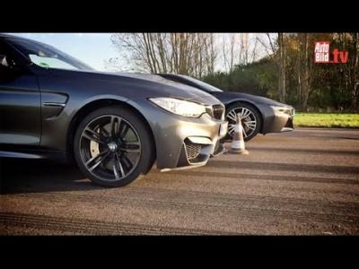 0 à 100 km/h : duel entre la BMW i8 et la BMW M4