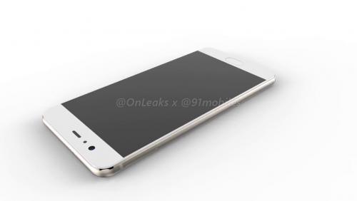 Huawei P10 : rendu 3D par OnLeaks et 91 Mobiles