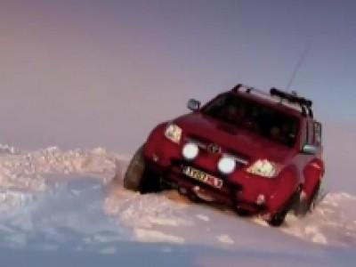 Le Toyota Hilux à la conquête de l'Antarctique