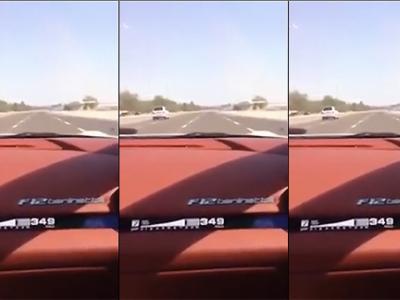 349 km/h en Ferrari F12 Berlinetta au milieu du trafic