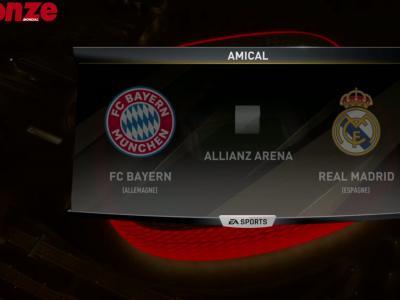 Simulation de Bayern Munich - Real Madrid, 1/2 de finale aller de la Champions League