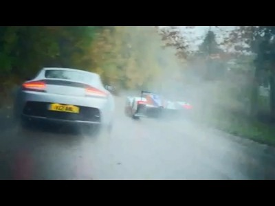 Aston Martin V12 Vantage face au proto LMP1