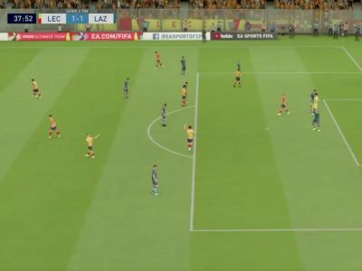 US Lecce - Lazio Rome sur FIFA 20 : résumé et buts (Serie A - 31e journée)