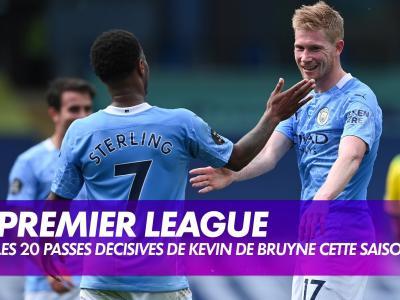 """Les 20 """"assists"""" de De Bruyne cette saison avec City"""