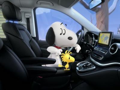 Snoopy a choisi le Mercedes Classe V