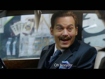 Charlie Mortdecai avec Johnny Depp