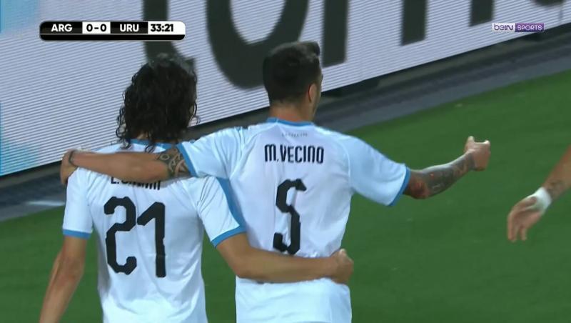 Uruguay - Argentine : le 50ème but de Cavani en sélection
