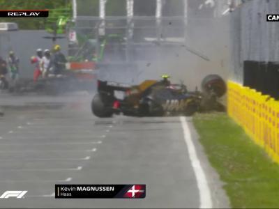 Formule 1 - GP du Canada : le crash de Kevin Magnussen