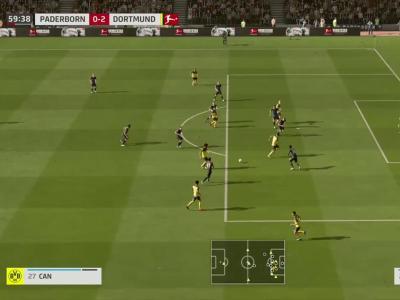 Paderborn - Borussia Dortmund sur FIFA 20 : résumé et buts (Bundesliga - 29e journée)