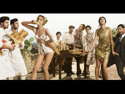 Au coeur du «shooting» de la maison Dolce&Gabbana