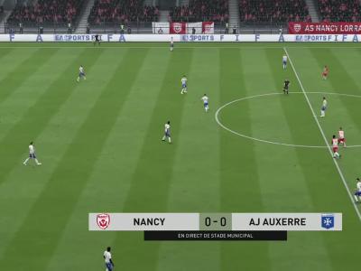 AS Nancy-Lorraine - AJ Auxerre sur FIFA 20 : résumé et buts (L2 - 37e journée)