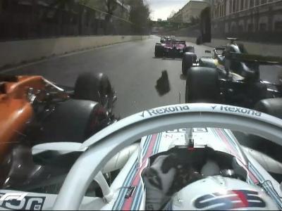 F1 : le crash de Grosjean à Bakou en vidéo