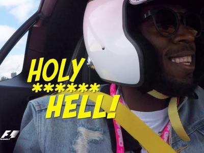 Lewis Hamilton secoue Usain Bolt en Mercedes-AMG GT R