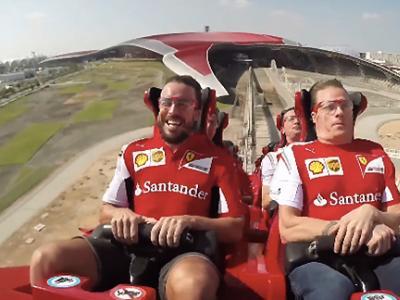 Raikkonen et Alonso testent la montagne russe la plus rapide du monde