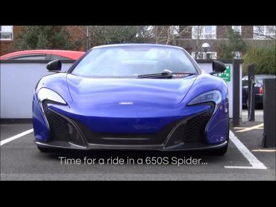 Une bonne louche du chant rageur de la McLaren 650S Spider