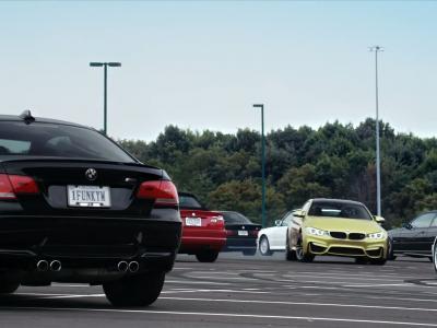 BMW fait drifter une M4 autour de 52 autres M !