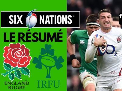 Angleterre - Irlande : résumé et essais du match en vidéo