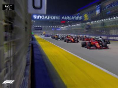 Grand Prix de Singapour de F1 : le départ