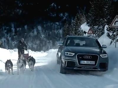 Vidéo : l'Audi RS Q3 en vacances de neige