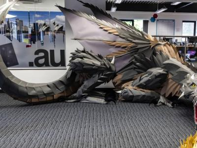 Game of Thrones : le dragon de Daenerys Targaryen reconstitué en papier