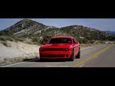 La Dodge Challenger SRT Hellcat en vidéo