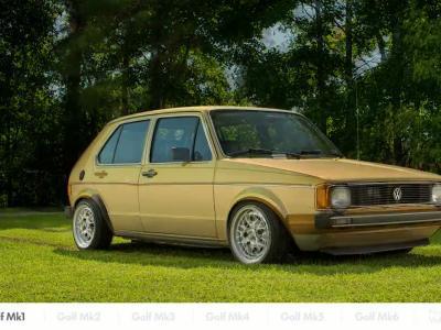 7 générations de Volkswagen Golf en morphing