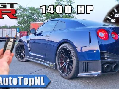 Une Nissan GT-R de 1400 ch poussée à 337 km/h sur autoroute en Allemagne