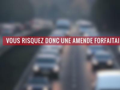 Circuler sur autoroute : quelle amende si je reste trop sur la voie de gauche ?