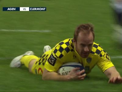 SU Agen - ASM Clermont : résumé et essais du match en vidéo