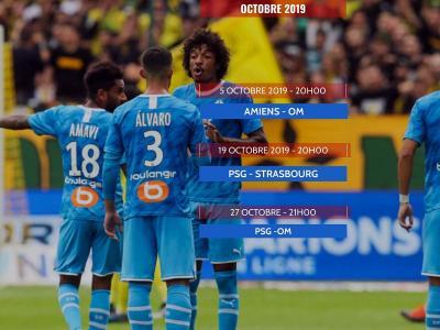 Marseille : calendrier et résultats (Ligue 1 2019 / 2020)