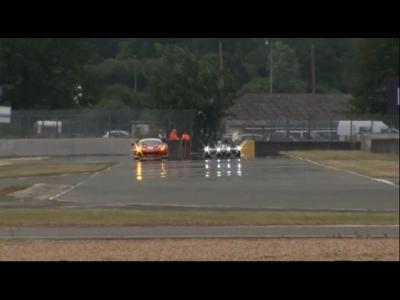 La Nissan DeltaWing aux test day des 24 Heures du Mans