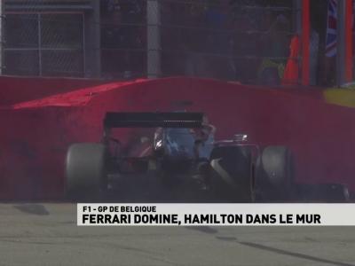 Grand Prix de Belgique de F1 : la sortie de piste de Lewis Hamilton en Essais libres 3