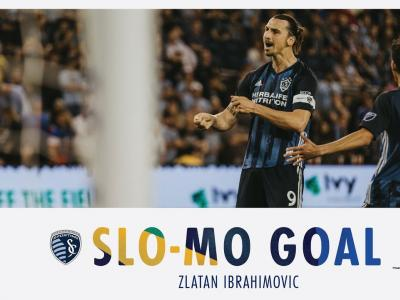 Zlatan Ibrahimovic : son but contre le Sporting Kansas City en slow motion
