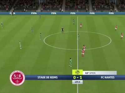 Stade de Reims - FC Nantes sur FIFA 20 : résumé et buts (L1 - 30e journée)