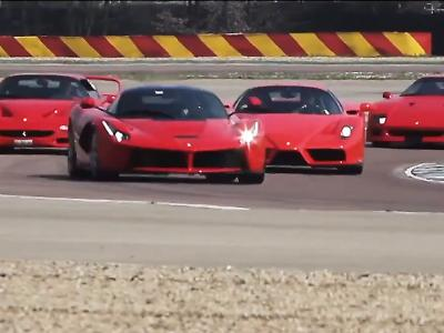 Exceptionnel : Ferrari fait tourner ses 4 supercars sur son circuit de Fiorano