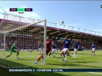 Premier League : le résumé et les buts de Bournemouth - Everton