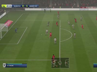 Dijon FCO - Angers SCO sur FIFA 20 : résumé et buts (L1 - 33e journée)