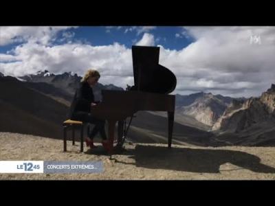 Concert de piano caritatif à 5000 mètres d'altitude dans l'Himalaya