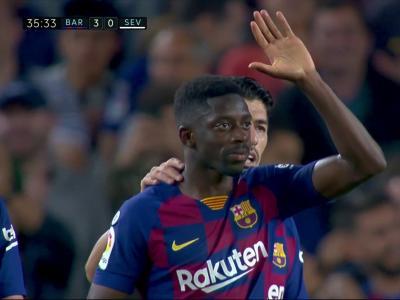 Barça - FC Séville : Dembélé ouvre son compteur en Liga !