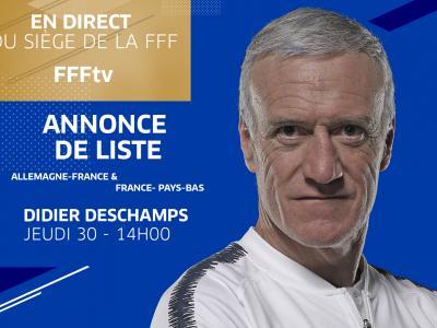 Équipe de France : la liste de liste de Didier Deschamps