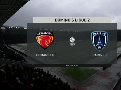Le Mans FC - Paris FC sur FIFA 20 : résumé et buts (L2 - 37e journée)
