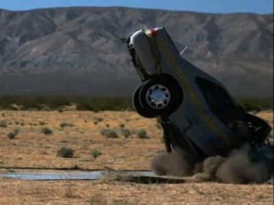 Un Crash voiture en slow motion