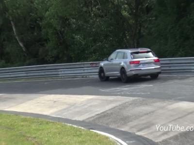 Le futur Audi SQ7 se crashe sur le Nürburgring