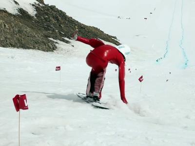 Snowboard: Edmond Plawczyk bat le record du monde de vitesse