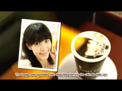 Votre photo imprimée sur la mousse de votre cappuccino
