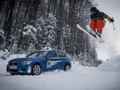 Insolite : une BMW 120d xDrive en guise de remonte pente